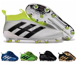 Wholesale Kids ACE Purecontrol Soccer Cleats FG Football Boots Shoes Pure Control Cheap Soccer Shoes Boats For Men Original Quality Soccer Boots