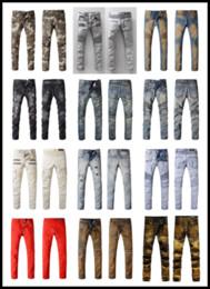 Wholesale Original Brand France Fashion Pierre Balmain Jeans Men s Balmain Biker Jeans Hole Ripped Stretch Denim Balmai Casual Jean Men Skinny Pants