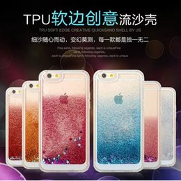 Wholesale Hot Mirro Glitter Stars Dynamic Liquid Quicksand Soft TPU Phone Back Cover Phone Case for Iphone S Plus SPlus Capa Para