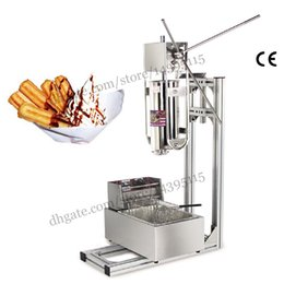 Wholesale Commercial Deluxe Stainless Steel L Churro Machine L Electric Fryer Manual Spanish Churros Maker Capacity Five Liters