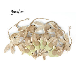 Wholesale new easter decorations set wood easter rabbit plywood party decorations for home decoration