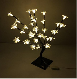 47cm Height Warm White 32 LEDS outdoor led Water Lily tree light for Xmas led christmas Lotus tree lights decoration