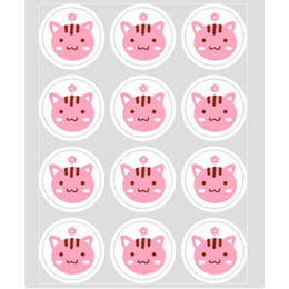 Cute 20 sheet Label Sealing Paste Sealing Sticker Baking Cookies Packaging Decorate DIY Sticky