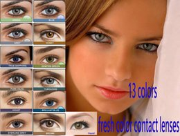 Wholesale 10 free Fresh color blending contact lens Contact lenses color contact lens crazy lens Tones contact lenses