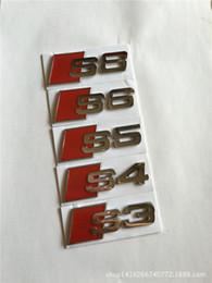 10 pieces lot Wholesale 3D Metal Car emblems chrome badges bumper stickers S3 S4 S5 S6 S8 for Audi Car-styling