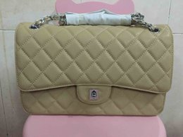 Wholesale 2016 lady s genuine caviar leather flap bag cm jumbo size high quality caviar cowhide good price