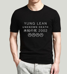 Promotion shirt de douille d'impression des animaux gros Vente en gros-Mode YUNG LEAN UNKNOWN DEATH T-shirts Enfants Tristesse Imprimer T-shirts Hommes Coton Casual Short Sleeve T-shirt d'été Hip Hop O-Neck Tee Shirt