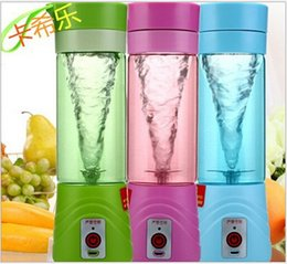 Wholesale 400ml Portable Electric Fruit Juicer Cup Vegetable Citrus Blender Juice Extractor Ice Crusher with USB Connector Rechargeable Juice Maker