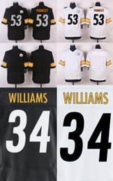 Wholesale 2016 Elite Steelers Mens DeAngelo Williams Maurkice Pouncey Stitched Jerseys Anniversary Free Drop Shipping
