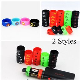 Wholesale Superman Batman Captain America Flash DEADPOOL The Punisher Silicone Vape Band Silicon Beauty Decorative Ring for Glass Tanks Rda Vapor Mod
