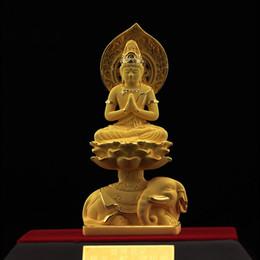 [] snake Zodiac gold Buddha Samantabhadra evil fortune to help academic high-grade gift package mail