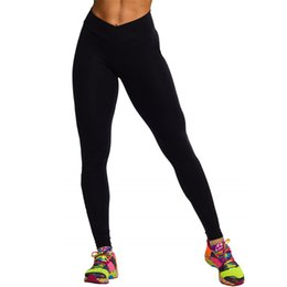 Wholesale-Women Watermelon Red Black Running Sports Exercise Leggings High Waist Cropped Fitness Pants Trousers #77650