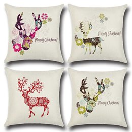 Wholesale Amazon wish hot hot style elk Christmas color pillow individuality creative home Christmas gifts
