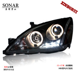 Wholesale The generation Accord headlight angel eye bifocal lens xenon headlamps seven generation headlight assembly