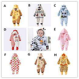 Wholesale Newborn Baby cotton Hooded Warm Rompers Infants Christmas Deer Warm Jumpsuit Outfits Baby Cartoon Removabel hat and shoes Romper sets m