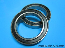 6910RS bearing free shipping 6910 6910RS 50*72*12 mm chrome steel deep groove bearing Rubber sealed Thin wall bearing