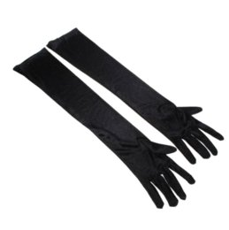 !!!Dress up Cosplay Photo Props Long Satin Opera Gloves (1 Pair,Black) Gloves & Mittens Cheap Gloves & Mittens