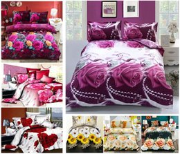 Wholesale New D flower bedding set plant design quilt cover bed linen bedclothes bed set bed sheet duvet cover pillowcases