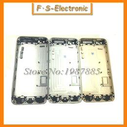 Wholesale Metal Spare Parts Card Tray And Keys New Chassis Middle Frame Housing Back Battery Cover Middle Frame Metal Back Housing For iPhone s
