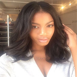 Full Lace Human Hair Wigs For Black Women Human Hair Short Cut Wig Natural Wave Ful Lace Brazilian Hair Wig Baby Hair