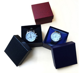Wholesale Paper watch box Embossed leather heaven and earth covered watches gift Watch Display Box