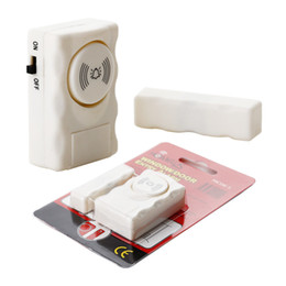 Promotion entrée de la porte de sécurité Freeshipping Wireless Home Security Alert porte fenêtre entrée sécurité antivol Système d'alarme d'avertissement du capteur magnétique