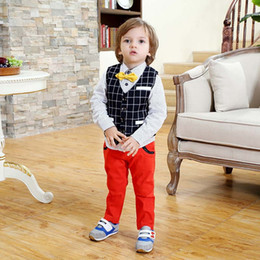 Wholesale Baby Clothes Boys Clothing Sets Spring Autumn Waistcoat Buy Shirts Baby Pants Boys Suits Children Set Kids Suit Outfits Lovekiss C23699