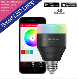 Wholesale New E27 MIPOW W Playbulb Bluetooth Smart LED Light Bulbs APP Smartphone Group Controlled Dimmable Color Changing Smart illumination lamps