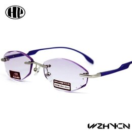 Wholesale 2016 new designed men women aluminum trimming diamond cut high quality metal classic style reading glasses