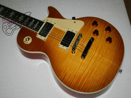 Wholesale electric guitar New Arrival Custom Electric Guitar Ebony fingerboard Flame top Best Free Shipping