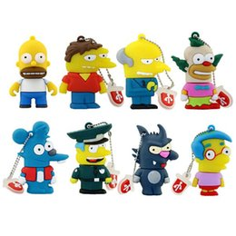 Wholesale 2016 New Simpsons Pen Drive For Promotional Gifts Cartoon Simpson Family Shape USB Flash Drive GB GB GB GB GB U Disk Memory Stick