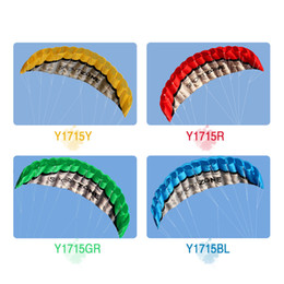 Wholesale Outdoor Sports m Power Soft Kite Dual Line Stunt Parafoil Kite with Handle m Line Y1715