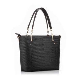 New women black bucket bag ladies handbags PU leather shoulder bag luxury famous brand handbag Realer brand tote bag 2 sets