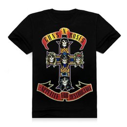 Wholesale Asking Alexandria guns n roses t shirt mens womens tops hipster clothing guns n roses punk rock tee shirts d t shirt s xl