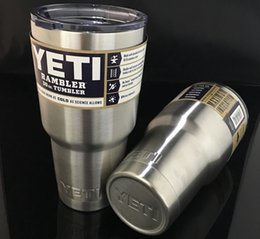 Wholesale 2016 Bilayer Stainless Steel Insulation Cup YETI Cups Cars Beer Mug Large Capacity Mug Tumblerful oz oz