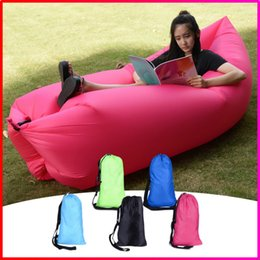 Wholesale Outdoor Garden Inflatable Air Sofa Bed Chair Sleeping Bag Portable Camping Beach Lazy Sleeping Air Bed Lounger Hangout Sofa