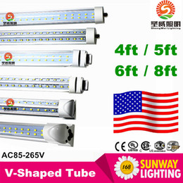 Wholesale r17d led tubes W T8 ft FA8 Single Pin G13 R17D Integrated Double Sides smd2835 Led Light Tubes foot UL AC V
