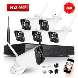 6X 8CH 960P NVR Wireless CCTV Security Camera System Weatherproof Wifi In Outdoor IP Surveillance Camera Kit motion detection