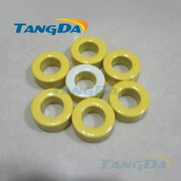 Wholesale Tangda Iron Power Cores inductor T68 A mm yellow white coated ferrite ring core Magnet filtering