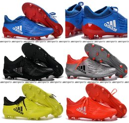 Wholesale 2016 New X Purechaos FG AG soccer boots Pure Control Football Shoes Soccer Cleats Boots Cheap Mens Shoes Original Quality EUR39