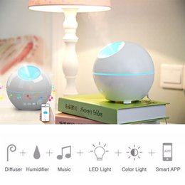 Wholesale Smart Air Humidifier With Colors Changing And With Mobile Free App Remote Control Alarm Clock Aromatherapy Diffuser