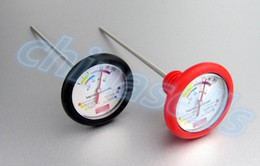 new Stainless Steel Food Grade Silicone red wine stopper thermometer dual purpose liquid thermometer