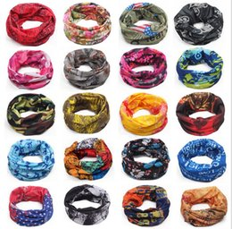 Wholesale 150 colors Bandanas Multifunctional Outdoor Cycling Scarf Magic Turban Sunscreen Promotion Seamless Women Men Hair band DHL Fast Shipping