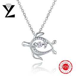 2016 New Arrival Sea Turtle 925 Sterling Silver Women Pendant Dancing Stone CZ Diamond Ocean Series Designer Brand Pendant Jewelry DP58840A