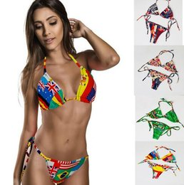 Wholesale Hot selling Sexy national flag Women Swimsuit Bathing Suits Swim Bikini Set Beach Swimwear
