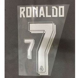 2015-2016 Real Madrid Home Away Custom soccer Nameset Customize Name A-Z Number 0-9 Print Player nameset