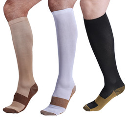 Wholesale Copper Compression Socks Reduce Swelling Socks Miracle Copper Socks Antimicrobial Compression Socks Running Socks Sport Socks pairs