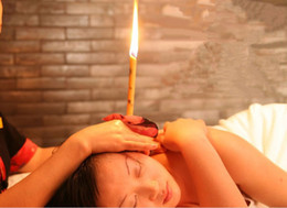 Wholesale 100 pairs Indian aromatherapy ear candling Ear Candle Speaker There are eight color refreshing detoxifies ear candle with stopp