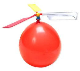 Wholesale 200pcs flying Balloon Helicopter DIY balloon airplane Toy children Toy self combined Balloon Helicopter
