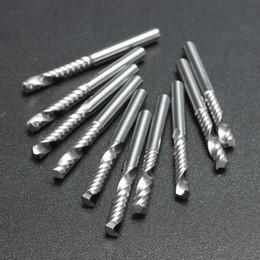 10pcs lot 1 8 High Quality Cnc Bits Single Flute Spiral Router Carbide End Mill Cutter Tools 3.175 x 22mm (1Lx3.22x5)
